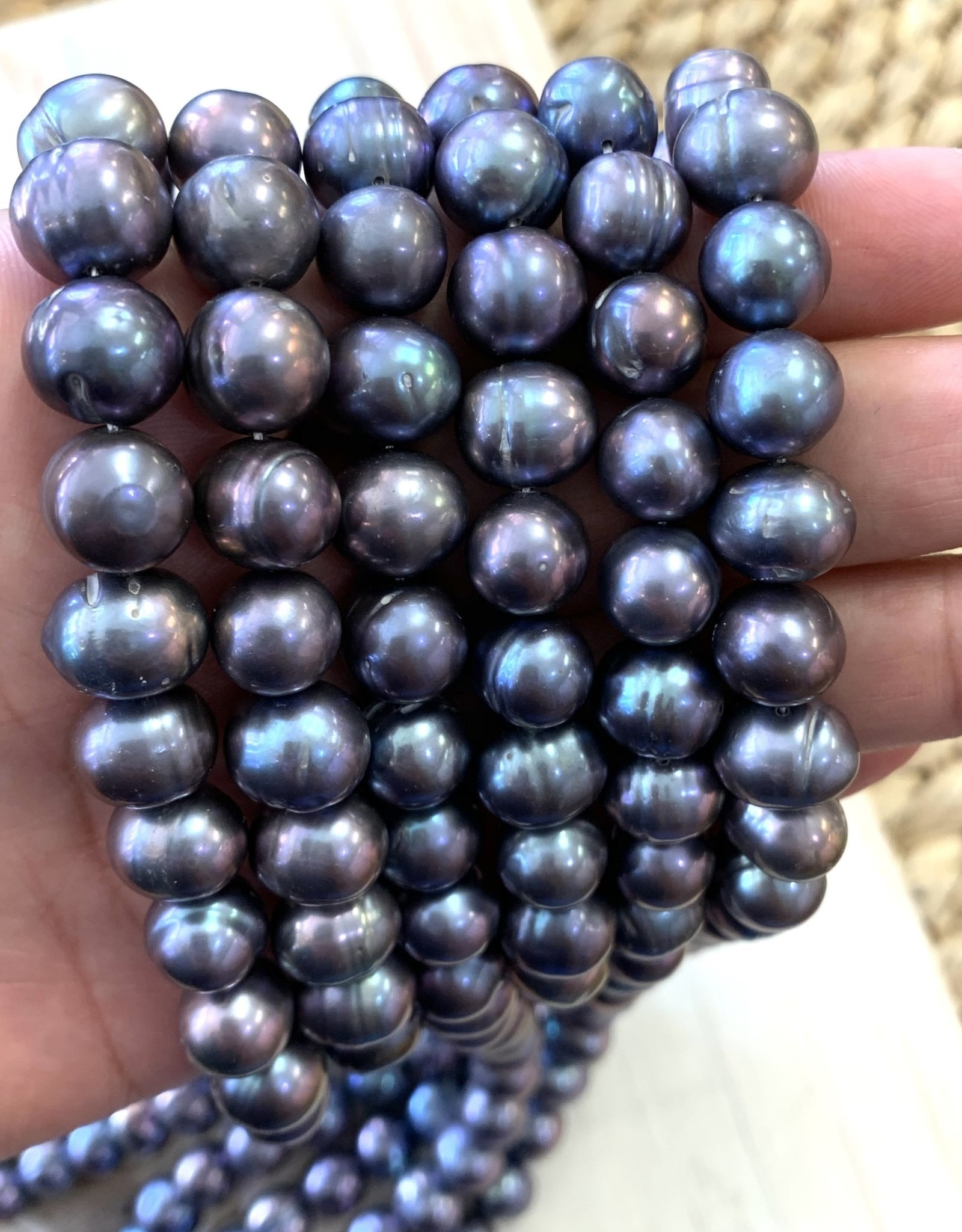 10.5mm Purple Blue Pearls