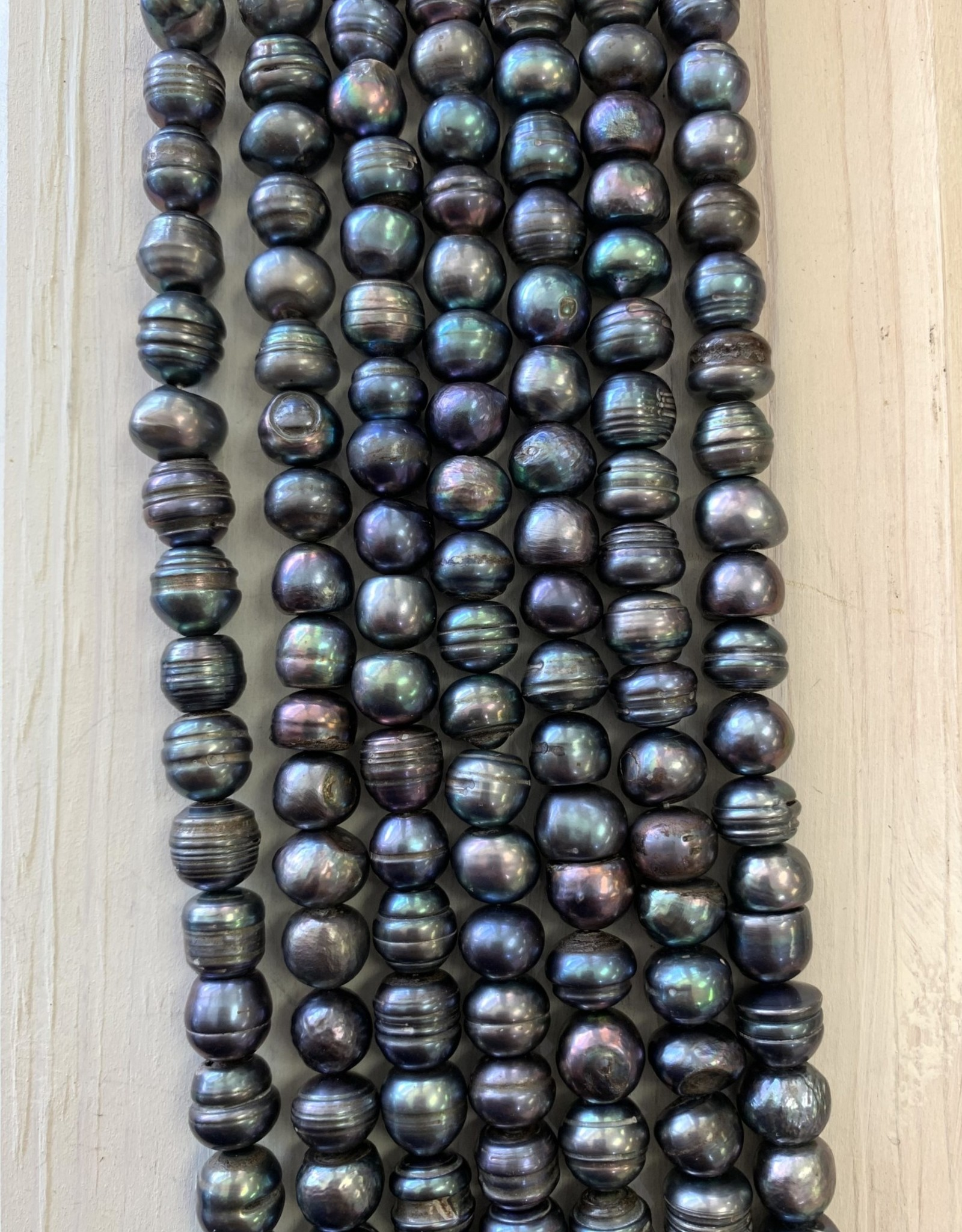 10mm Blue Button Pearls