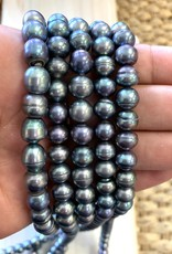 9mm Blue Button Pearl
