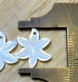 Jasmine Flower White MOP Pair