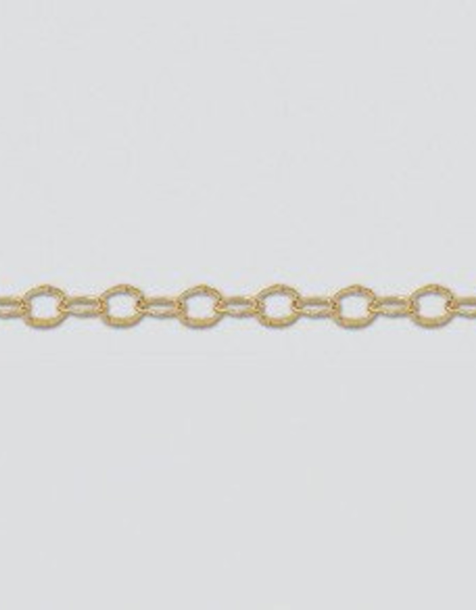 Flat Nugget Chain 14k Gold Filled Inch