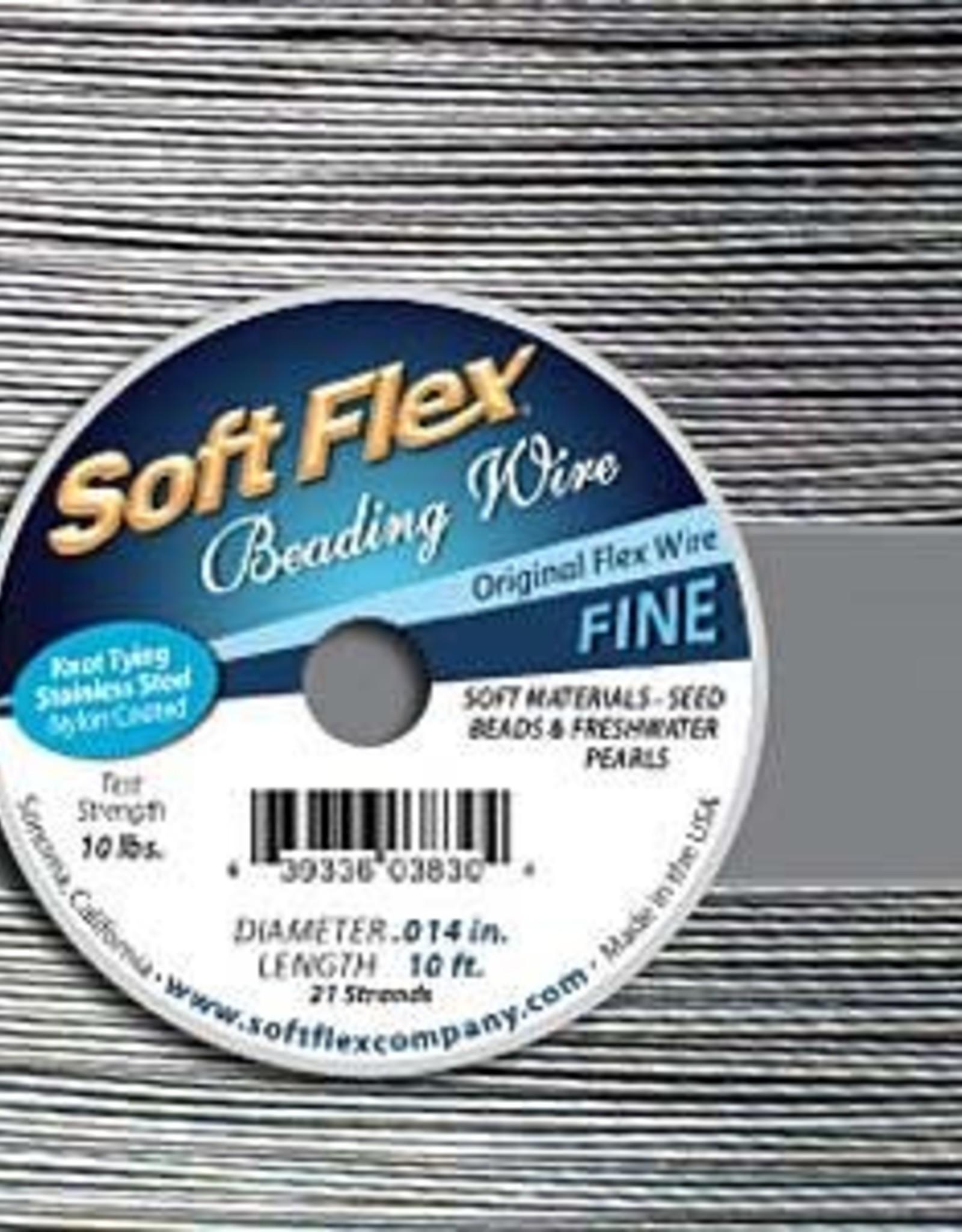 .014 Soft Flex Satin Beading Wire Fine 10ft