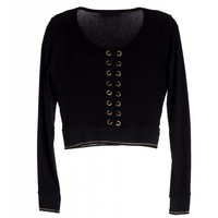 urban lace up long sleeved cropped top