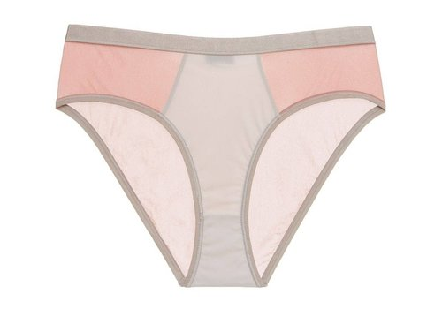 mixed mesh-ages high-leg hotpant