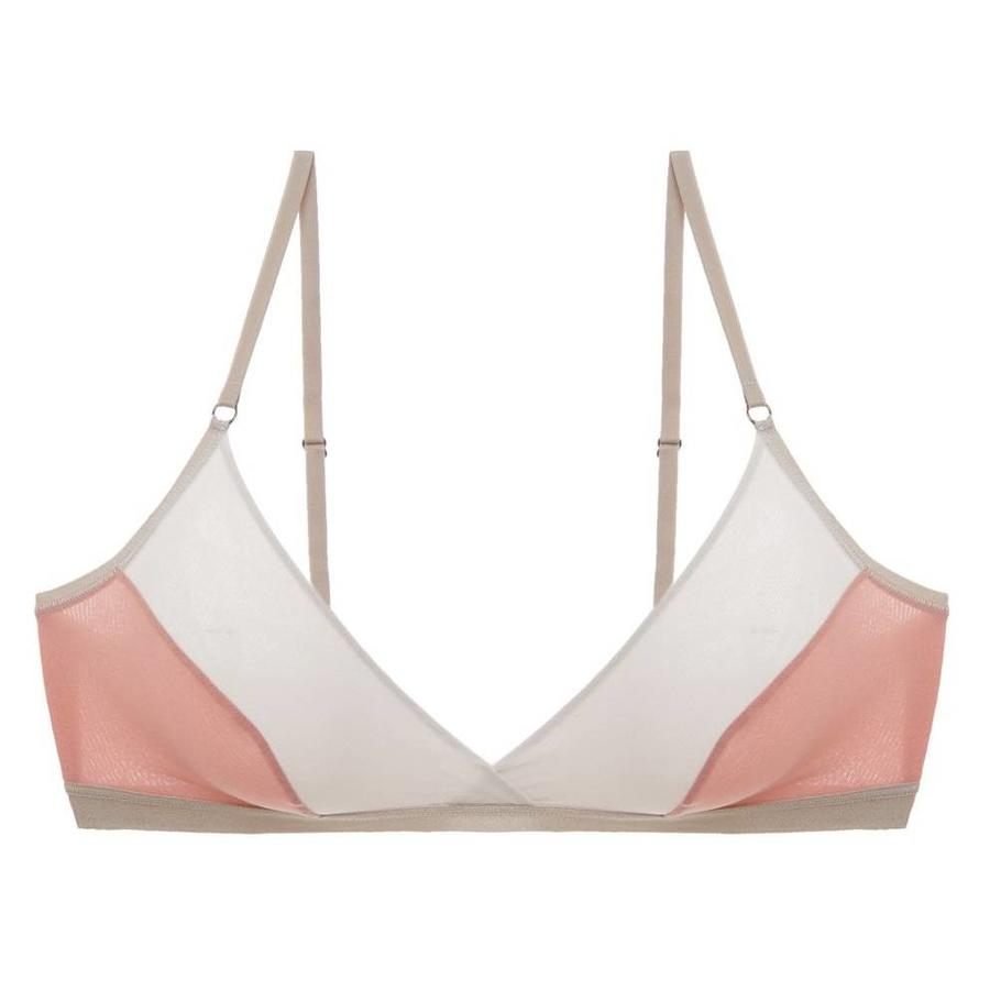 mixed mesh-ages crossover bralette