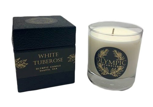 white tuberose candle