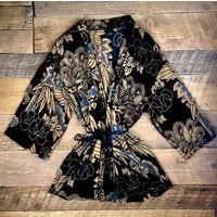 crane velvet devore kimono
