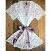 NEVAEH obsession bed jacket w/ silk waist sash