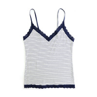 striped jersey v-front cami