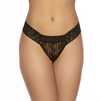 linear lace low rise thong