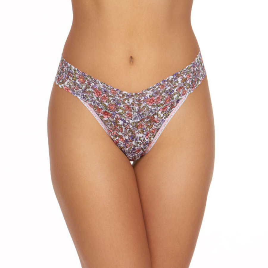 calico low rise thong