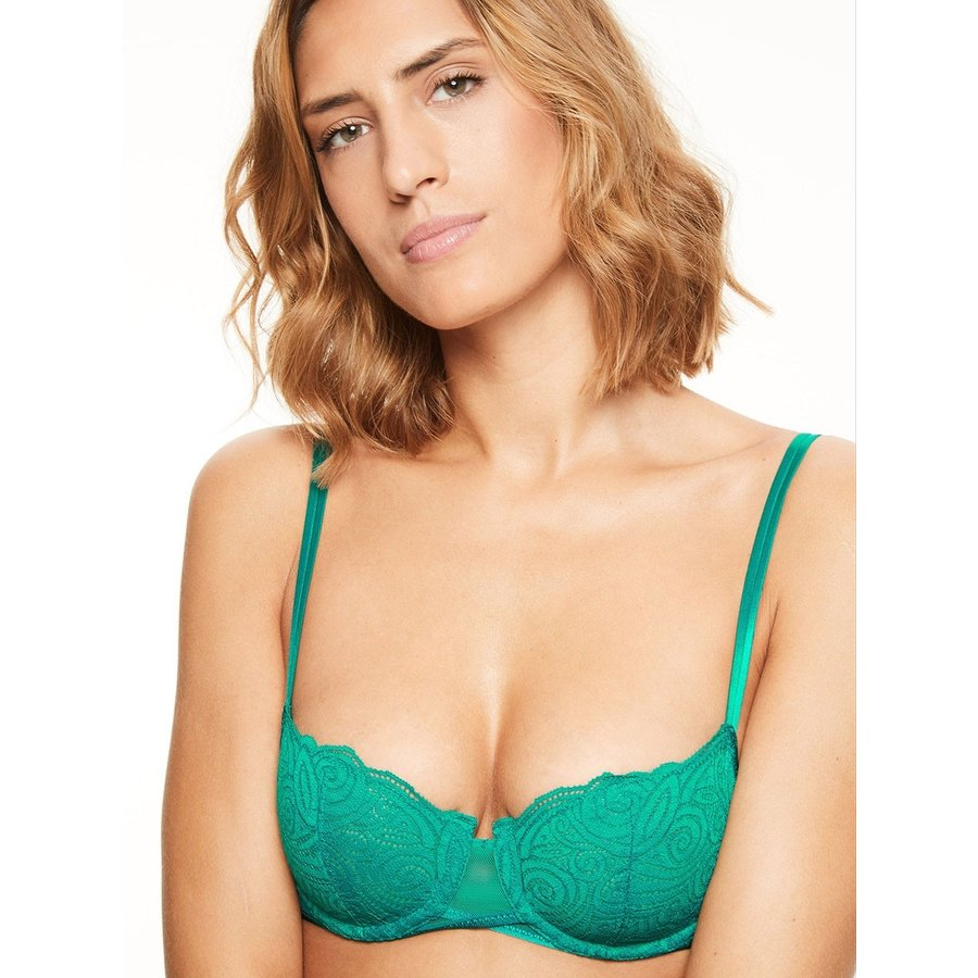 pyramide lace unlined bra