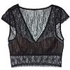 karma cropped bra top w/ cap shoulders