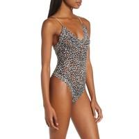 Classic Leopard Thong Bodysuit