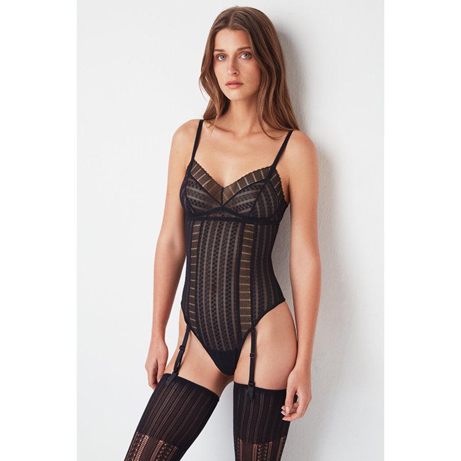 Lolita Bodysuit W/ Removable Suspenders