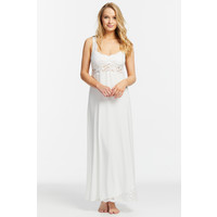 Everlasting Lace Hem Supportive Gown with Silk