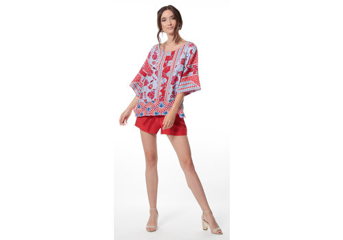 Gatsby Silk Tunic Top