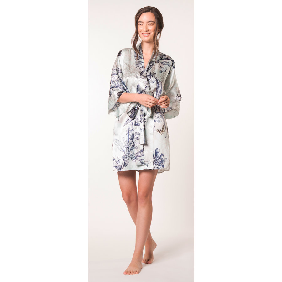 Botanica Short Silk Robe