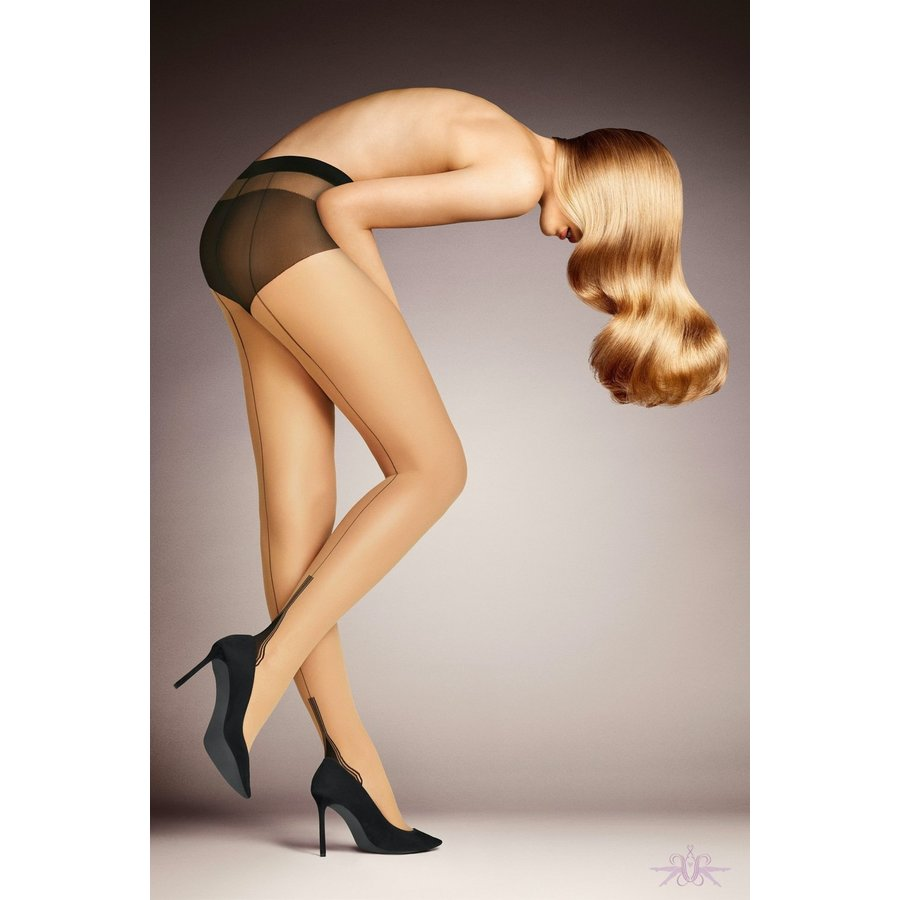 Pin-Up Backseam Cuban Heel Tights