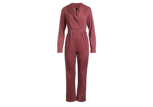 Ella Wool Blend Pleated Jumpsuit