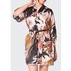 CHRISTINE Silk Sedona Print Short Robe