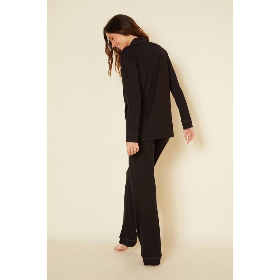 Bella Pima PJ Fitted Long Sleeve Top & Pant Set