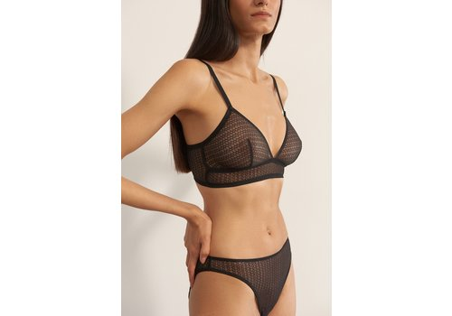 Honeycomb Triangle Soft Cup Bra