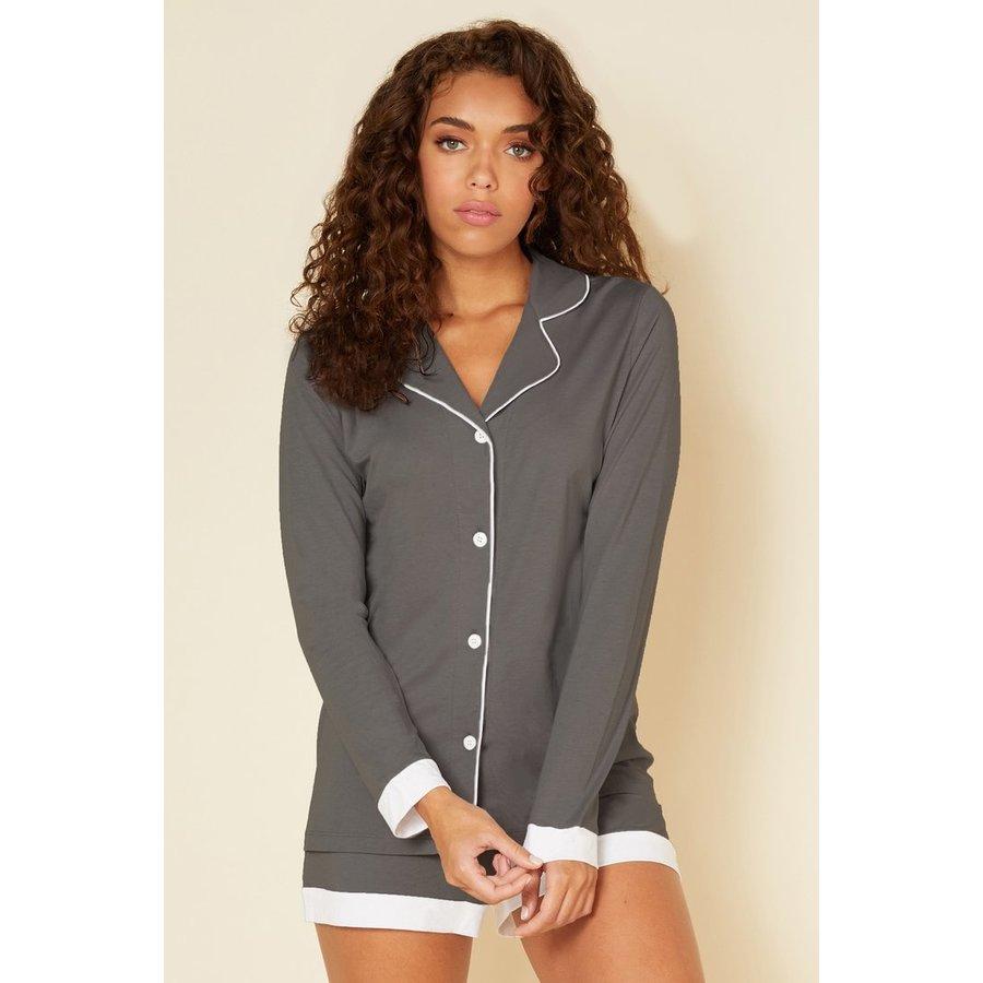 Bella Pima PJ Comfort Long Sleeve Top & Boxer Set