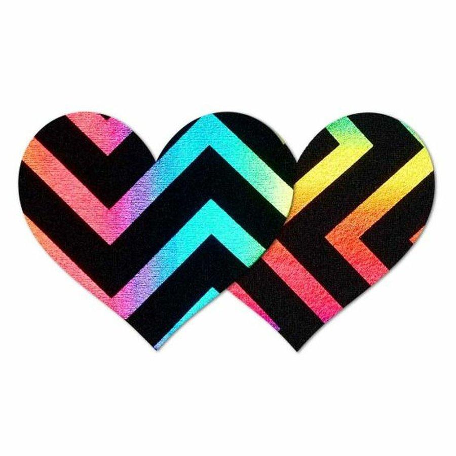 Midnight Rainbow Heart Pasties