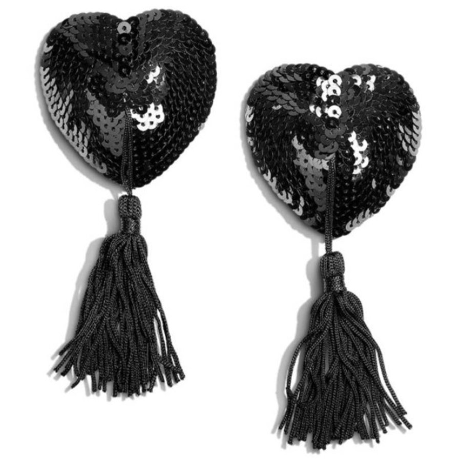 Jett Heart-Shaped Tassels
