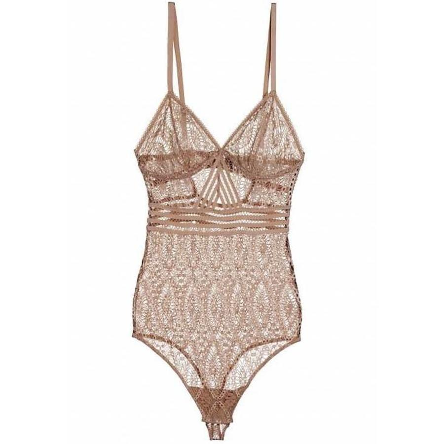 baroque triangle cup cut-out bodysuit