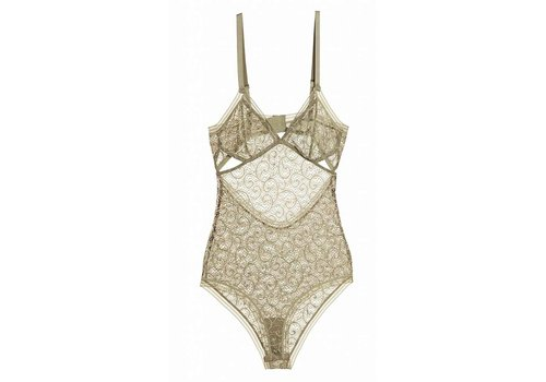 paisley soft cup triangle bodysuit