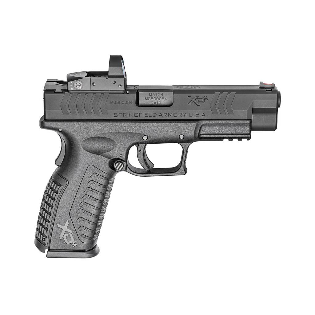 "Springfield Springfield XDm 9mm 4.5"" w/ Vortex Venom 3 MOA red dot, XDM9459BHCOSPV, Checkered Polymer Grip, Black Slide/Black Frame, 19 Rd"