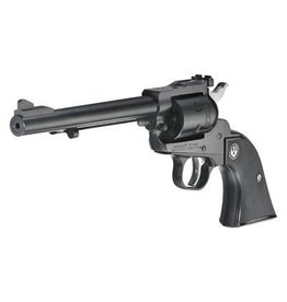 "Ruger, Single-Six, Single-Action Revolver, 17 HMR, 6.5"" Barrel, Blued Finish, Black Checkered Hard Rubber Grips, Adjustable Rear & Ramp Front Sight, 6Rd"
