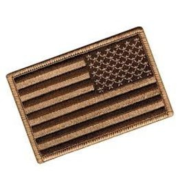 USA Flag Velcro Patch (Reverse) - Tan