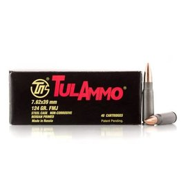 Tulammo Rifle Ammunition UL076209, 7.62mm X 39mm, Full Metal Jacket (FMJ), 124 GR, 40 Rd/bx