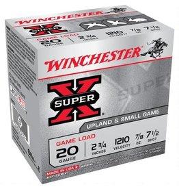 "Winchester Ammo XU207 Super-X Game & Field 20 Gauge 2.75"" 7/8 oz 7.5 Shot 25 Bx/10 Cs"