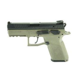 "CZ, P-07, DA/SA, Compact Pistol, 9MM, 3.75"" Barrel, Polymer Frame, OD Green Finish, 15Rd, Swappable Safety/Decocker, Night Sights"