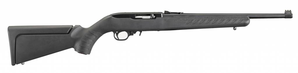 """Ruger, 10/22 Compact, Semi-automatic Rifle, 22LR, 16.12"""" Barrel, Blued Finish, Modular Synthetic Stock with 12"""" LOP, Adjustable Rear Sight and Finber Optic Front Sight, 10Rd"""