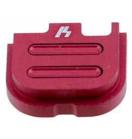 Strike Industries Strike SIGSPG43V2RE Glock 43 V2 Slide Cover Plate Aluminum Red