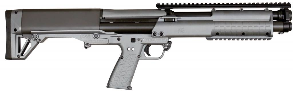 "Kel-Tec KSG BullPup Shotgun, 12 GA, 18.5"", Chamber, Tactical Grey Finish"
