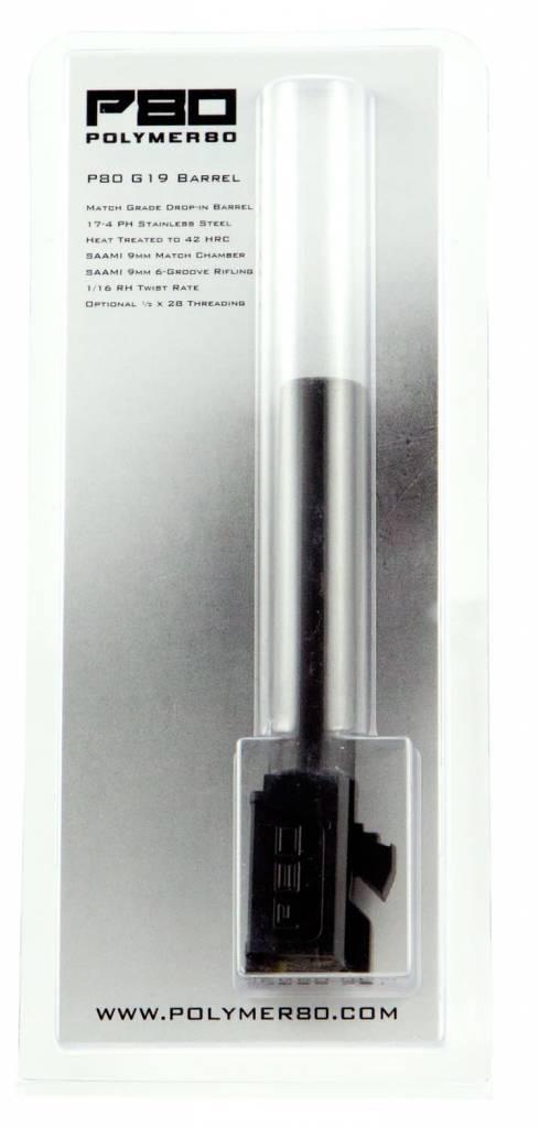 """Polymer80 P80G19SDLC G19 Gen1-4 Compatible Standard Barrel 9mm 4.01"""" Black DLC"""