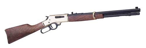 "Henry Repeating Arms, Lever Action, 30-30, 20"" Octagon Barrel, Brass Receiver, Walnut Stock, Adjustable Sights, 6Rd"