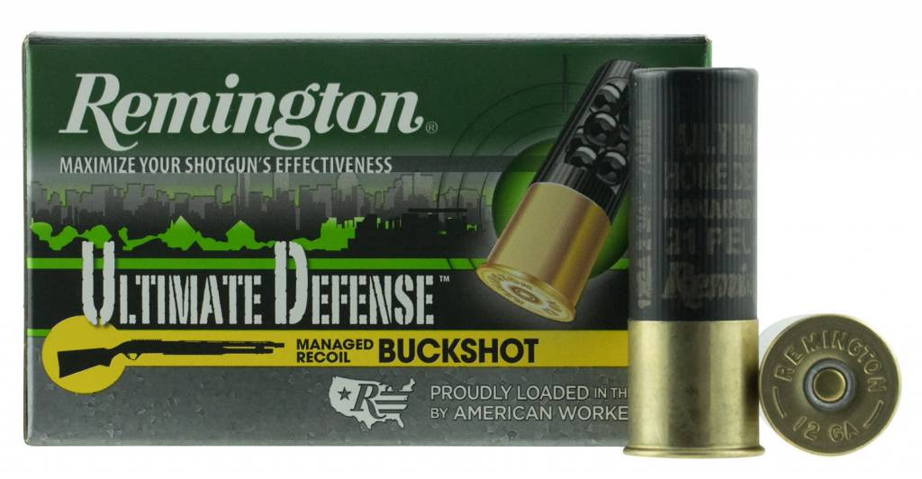 "Remington Ammunition 12BRR4HD Ultimate Defense Buckshot 12 Gauge 2.75"" Buckshot 21 Pellets 4 Buck 5 Bx/ 20 Cs"