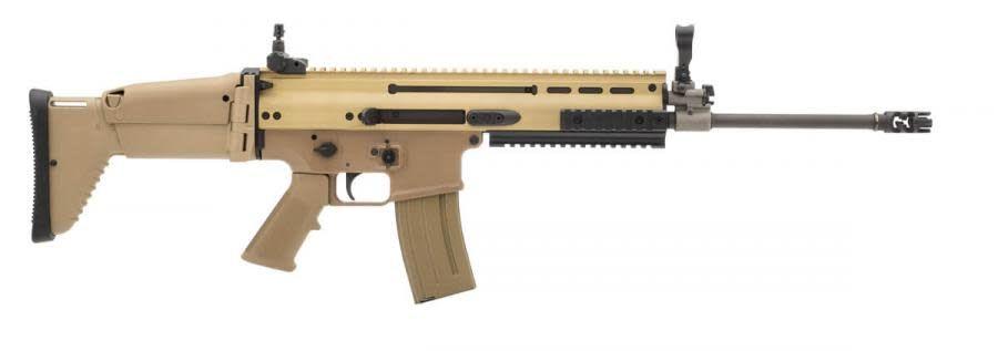 "FN Herstal Scar 16S Rifle (Featureless)98501, 223 Rem./5.56 Nato, 16.25"", Dark Earth Finish"