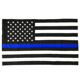 Thin Blue Line Flag Sewn & Embroidered 3x5'
