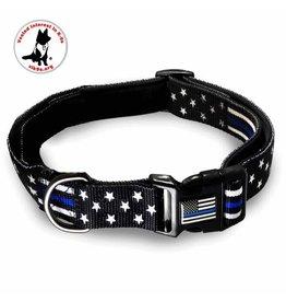none Thin Blue Line Dog Collar Large