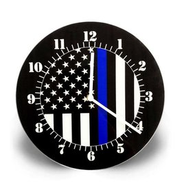 none Thin Blue Line Clock