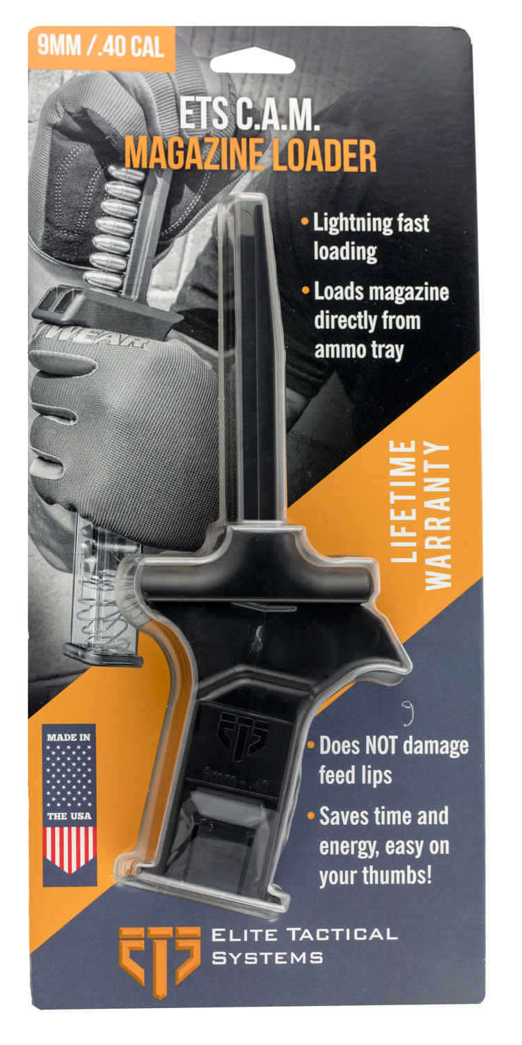 ETS ETS Group ETSCAM940 C.A.M Mag Loader 9mm/40 Smith & Wesson (S&W) Polymer Black Finish