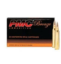 PMC Bronze Ammunition 223A, 223 Remington, FMJ Boat-Tail, 55 GR, 3200 fps, 20 Rd/bx